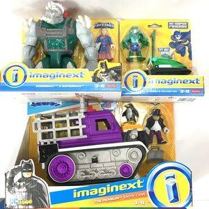 Imaginext Penquin, Doomsday, Croc DC Super Friends